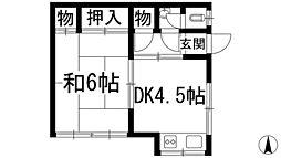 宇保町アパート(星野文化)[2階]の間取り