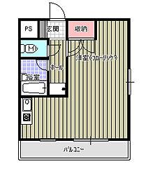 エルカーサ緑[205号室]の間取り