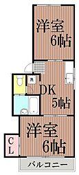 東京都大田区西馬込1丁目の賃貸アパートの間取り