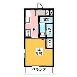 クレストアーク[1階]の間取り
