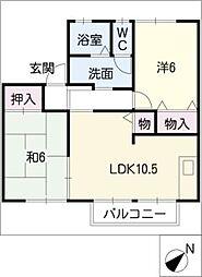 ロイヤルフォレストB棟[1階]の間取り