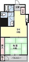 二条プラザ[908号室号室]の間取り