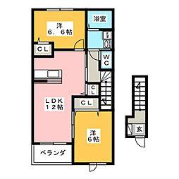 エアリーサイドI[2階]の間取り