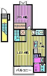 ブランラシーヌIII[2階]の間取り