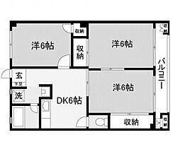 湘南ハイツ[3階]の間取り