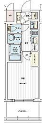 エステムコート名古屋黒川シャルマン 12階1Kの間取り
