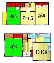[一戸建] 千葉県柏市しいの木台4丁目 の賃貸【千葉県 / 柏市】の間取り