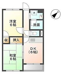 静岡県三島市徳倉1丁目の賃貸マンションの間取り