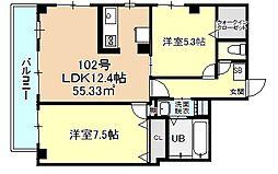 Arcobaleno SHINMEI[1階]の間取り