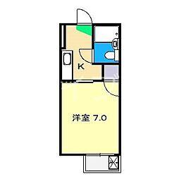 丸三ハウス[3階]の間取り