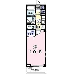 大阪府摂津市浜町の賃貸マンションの間取り