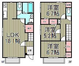 [テラスハウス] 神奈川県鎌倉市腰越4丁目 の賃貸【/】の間取り