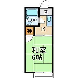 大阪府枚方市北中振3丁目の賃貸アパートの間取り