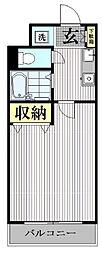 レヴィール西新宿[2階]の間取り