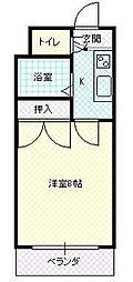 JR山形新幹線 山形駅 バス10分 TUY通り下車 徒歩1分の賃貸マンション 2階1Kの間取り