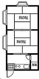 市原マンション[209号室]の間取り
