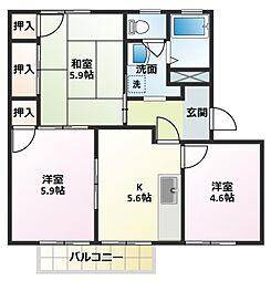 MAISON SONEB棟[2階]の間取り