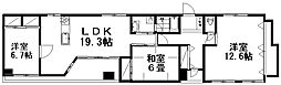 新潟県新潟市中央区弁天2丁目の賃貸マンションの間取り
