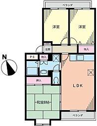 サニーヒル石川1[3階]の間取り