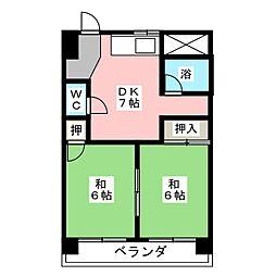 三和ハイツ日吉ビル[6階]の間取り