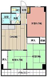 プレアール大田町[203号室]の間取り