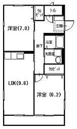 広島県呉市広三芦1丁目の賃貸アパートの間取り