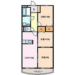 モンシャトレ船江[2階]の間取り