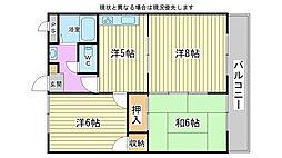 兵庫県高砂市曽根町中浜の賃貸アパートの間取り
