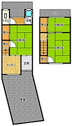 [テラスハウス] 大阪府大阪市平野区瓜破2丁目 の賃貸【/】の間取り