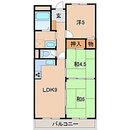 ライオンズマンション和歌山田中町107号[1階]の間取り