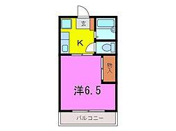 大府市 コーポ井村A[0201号室]の間取り
