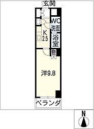 スクエア名駅南[4階]の間取り