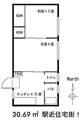 バウハウス太田駅北口[101号室]の間取り