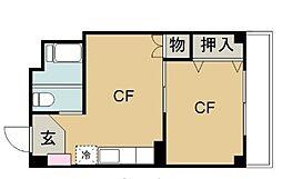福商事ビル[2-C号室]の間取り