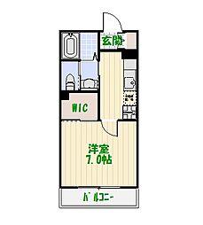 東京都足立区大谷田4の賃貸マンションの間取り