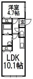 アクアリオTAKA[402号室]の間取り