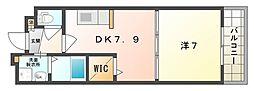 ベルガーデン[2階]の間取り