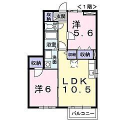 カモミールI[01020号室]の間取り