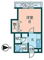 セントリックハイツ多田[202号室]の間取り