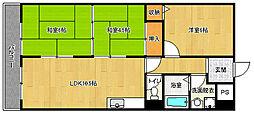 京都府京都市左京区一乗寺下リ松町の賃貸マンションの間取り