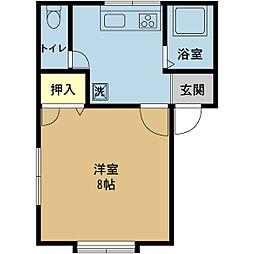 新潟県新潟市東区上木戸2丁目の賃貸アパートの間取り
