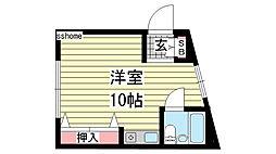 岸田マンション[201号室]の間取り