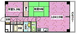 ロイヤルビュー安芸[6階]の間取り