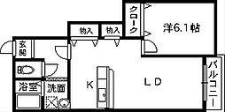 パークサイドチェリー[1階]の間取り