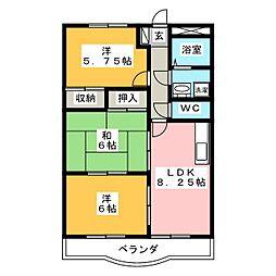 サンタプレイス岡崎[3階]の間取り