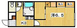レオパレス八幡大谷[1階]の間取り