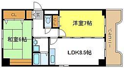 トリニティ加美東[4階]の間取り
