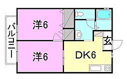 メゾン北野3[B-102 号室号室]の間取り