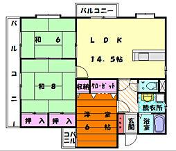第2エスポワール森[2階]の間取り