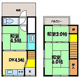 [テラスハウス] 滋賀県大津市際川3丁目 の賃貸【/】の間取り